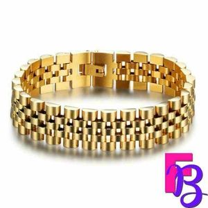 Men's 18k Gold Stainless Steel Bracelet